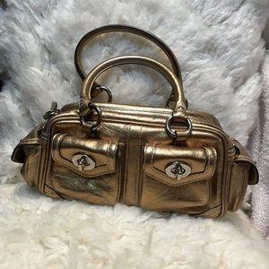 Coach Metallic golden bronze mini satchel
